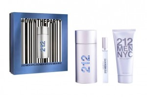 Carolina Herrera 212 MEN edt 100ml + edt 10ml + ASG 100ml zestaw