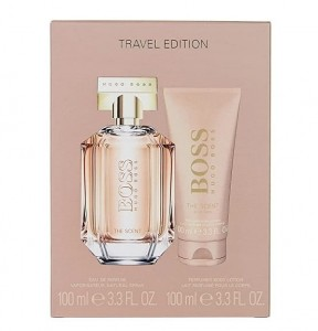 Hugo Boss THE SCENT FOR HER edp 100ml + BL 100ml zestaw podrózny